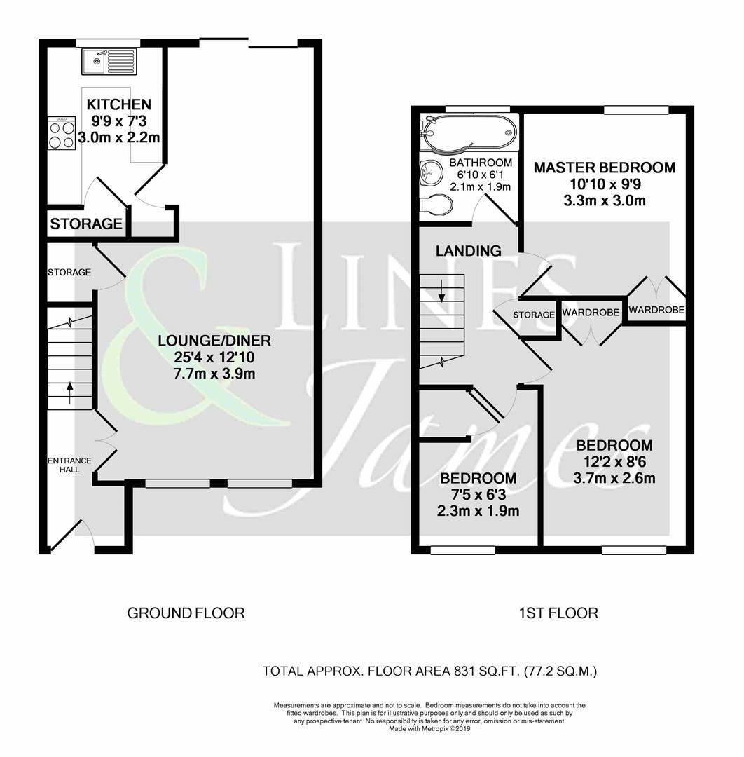 Floorplan for Wheatsheaf Close, Horsham
